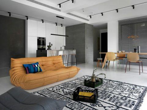 枫情水岸125平现代风格三居室装修效果图