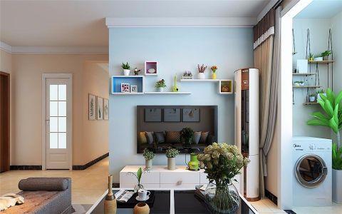 客厅背景墙现代简约风格装饰设计图片