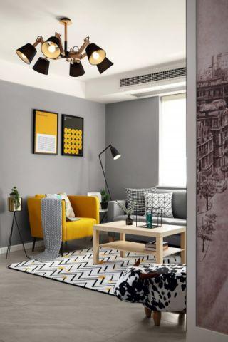 客厅背景墙北欧风格效果图