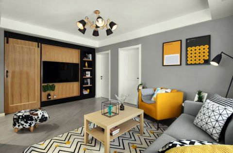香悦澜山87平北欧风格两居室装修效果图