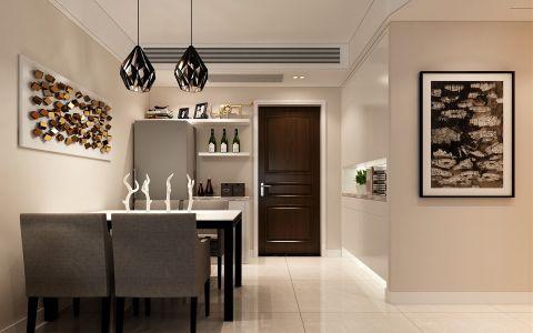 餐厅门厅现代简约风格装潢效果图