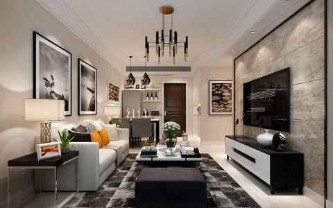 华润桃园里90平米现代简约风格三居室装修效果图