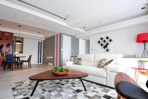 客厅走廊北欧风格装饰图片