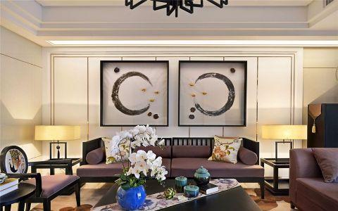 紫金城120平混搭风格三居室装修效果图
