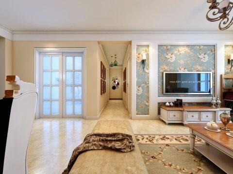 客厅门厅混搭风格装饰设计图片