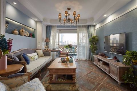 赞成赞城100平米美式风格套房装修效果图