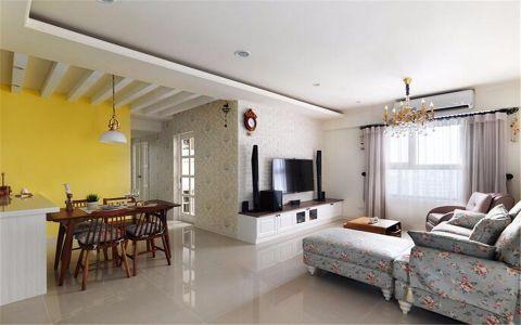 燊海森林90平米田园风格两居室装修效果图
