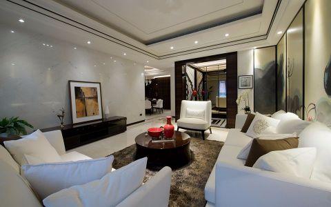 龙湖龙誉城现代中式风格三居室装修效果图