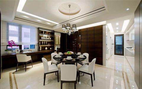 餐厅走廊现代中式风格装潢效果图