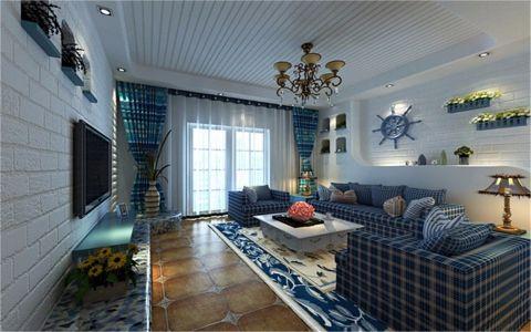 南湖国际社区80平地中海风格两居室装修效果图
