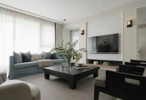 富力塞瓦格拉160平方米简约欧式风格三居室装修效果图