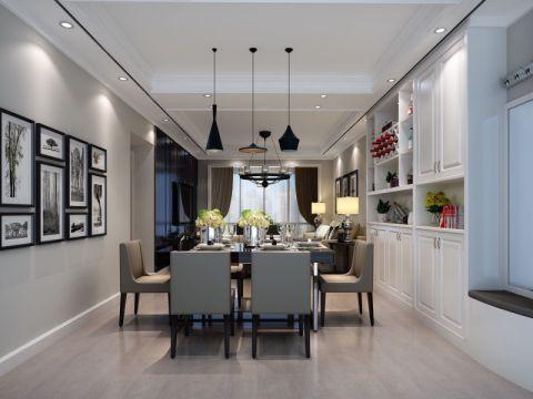 中联东郡90平米现代风格三居室实景效果图