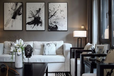 客厅细节简中风格装饰设计图片