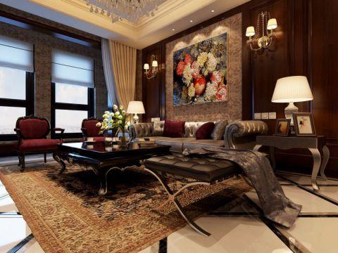 客厅背景墙新古典风格装饰设计图片