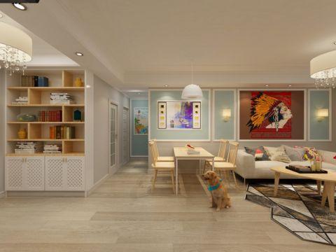 禹州天玺88平米现代风格三室装修效果图