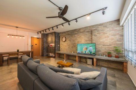 中房F联邦99平米平工业风2居室装修效果图