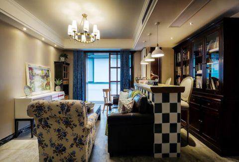 客厅吧台混搭风格装潢效果图