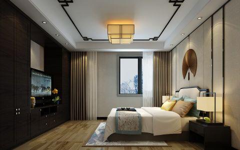 卧室吊顶新中式风格装潢设计图片