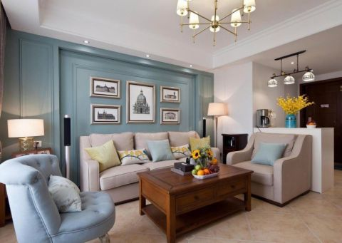 2020美式120平米装修效果图片 2020美式二居室装修设计