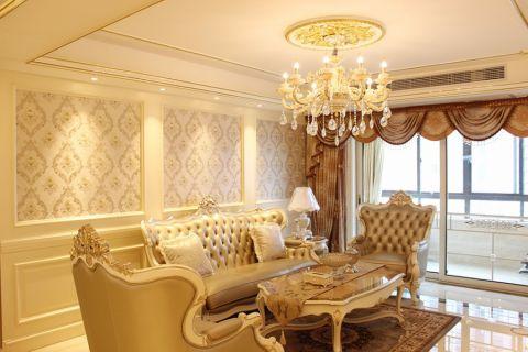 凤凰城120平米奢华欧式三室两厅两卫装修效果图