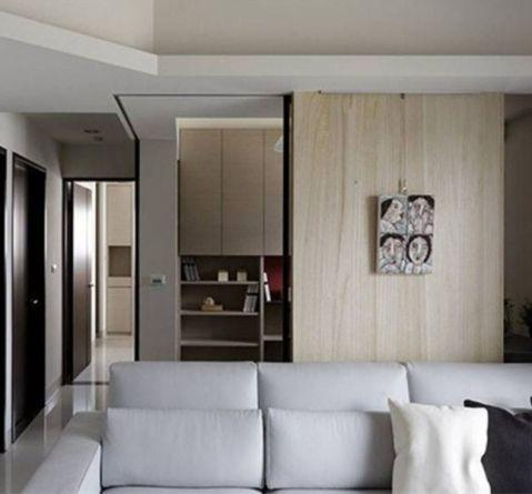 客厅背景墙北欧风格装潢设计图片