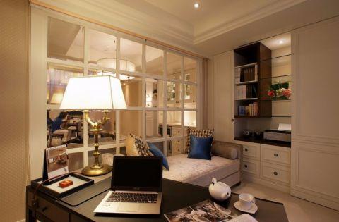 书房橱柜简欧风格装潢效果图