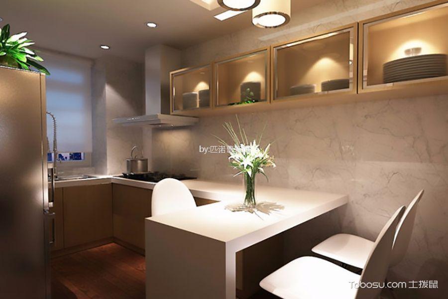 餐厅米色橱柜现代风格装饰效果图