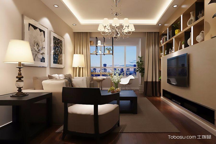 客厅米色细节现代风格装潢效果图
