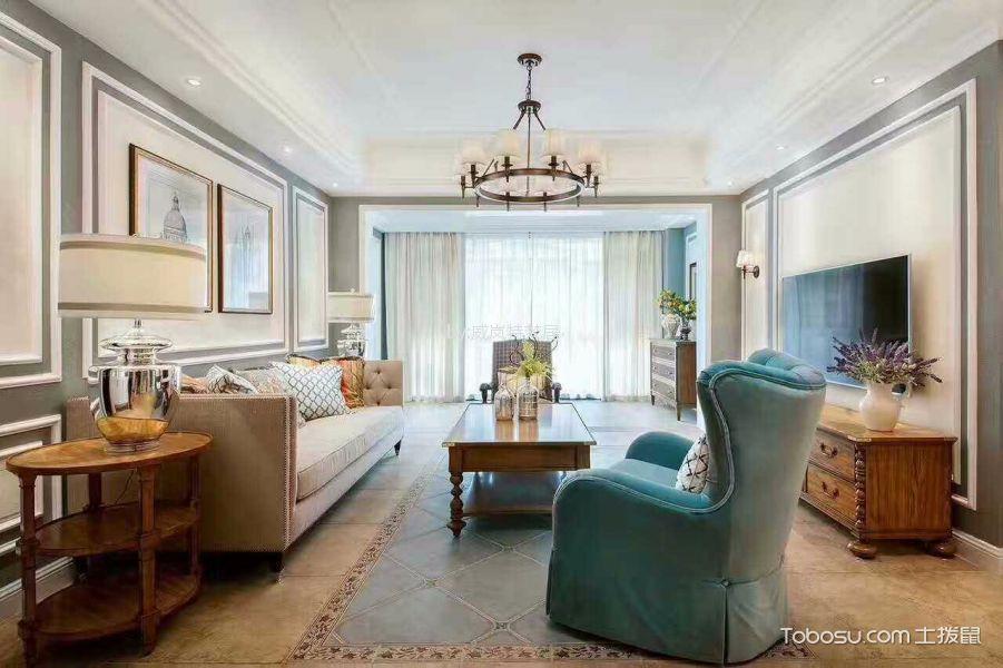 百家湖欧洲城简美风格180平四居室装修效果图