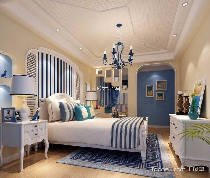天华绿谷95平地中海风格三居室装修效果图