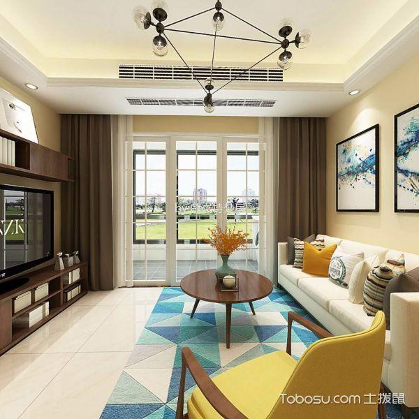 中南世纪雅苑现代风格86平三居室装修效果图