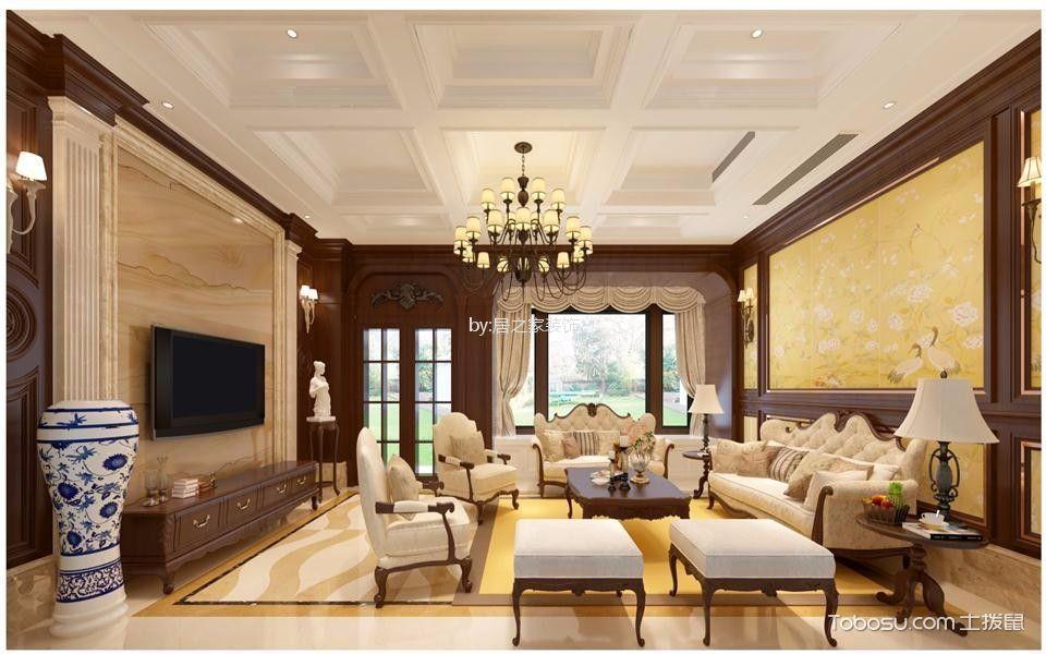 知识城别墅300㎡北欧风格5室2厅2卫装修效果图