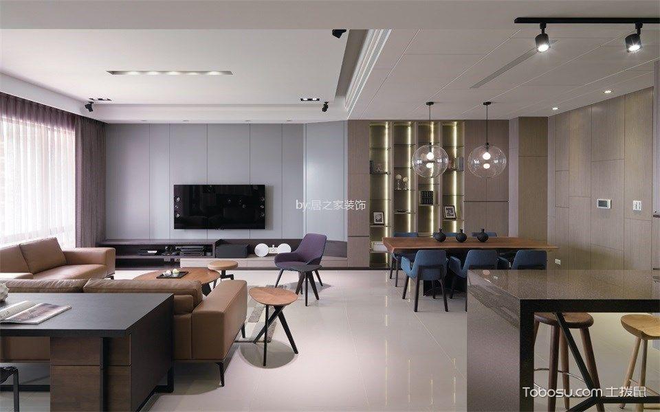 客厅咖啡色细节现代风格装潢效果图
