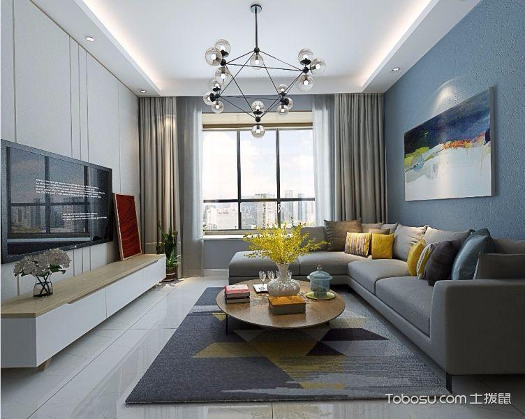 客厅灰色细节简约风格装饰效果图