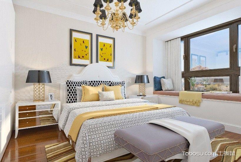 卧室白色细节混搭风格装修设计图片