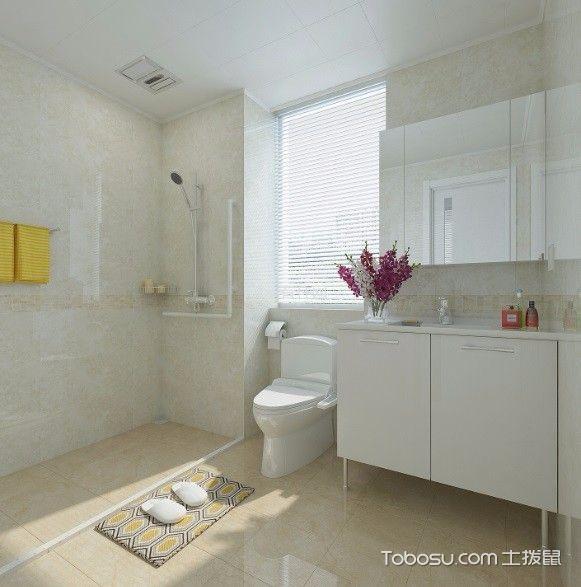 卫生间黄色细节混搭风格装饰设计图片