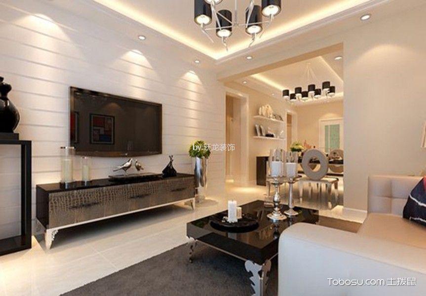 莱茵花苑100平现代风格三居室装修效果图