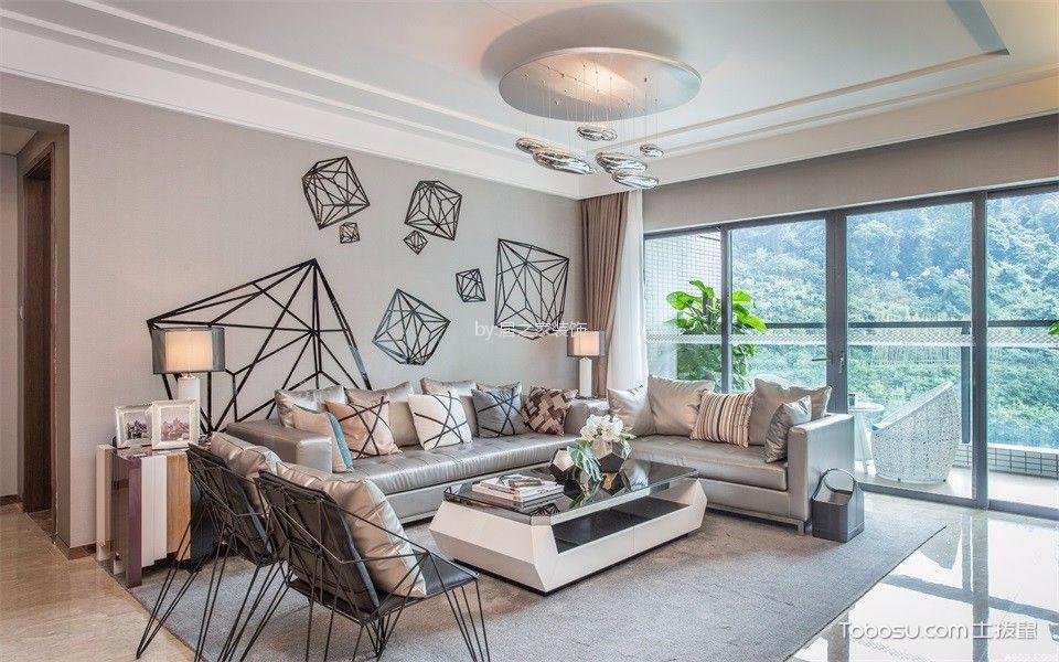 华润二十四城120㎡现代风格3室2厅2卫装修效果图