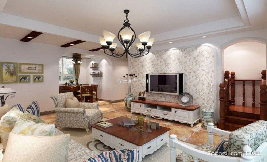 嘉兴书香门邸120平米新古典风格三居室装修效果图