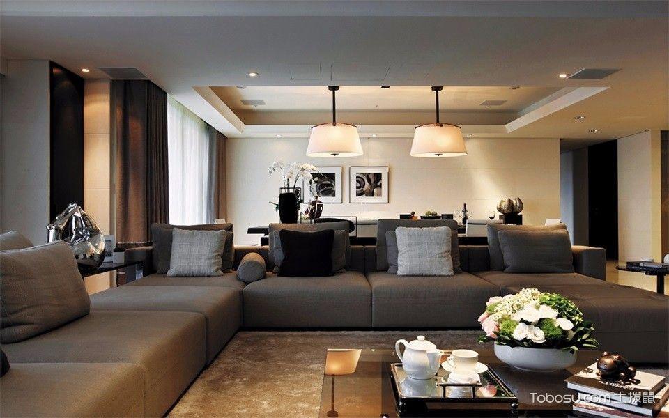 美城悦荣府130㎡后现代风格3室2厅2卫装修效果图
