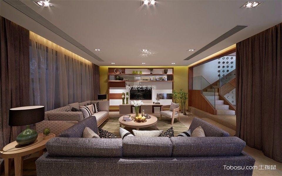 四海一家130㎡现代风格3室2厅2未装修效果图