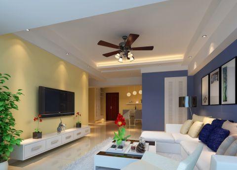 城建琥珀五环城103平米田园风格三居室装修效果图