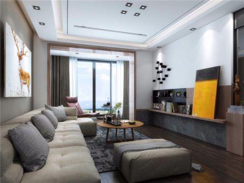 运河上城112平现代简约风格三居室装修效果图