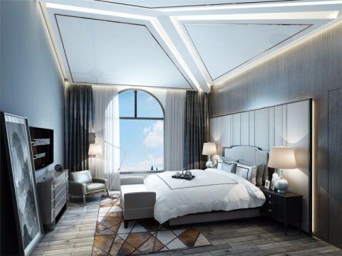卧室飘窗现代简约风格装潢设计图片