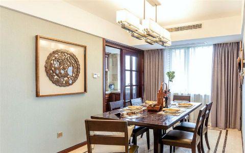 华邦万派城90平美式风格三居室装修效果图