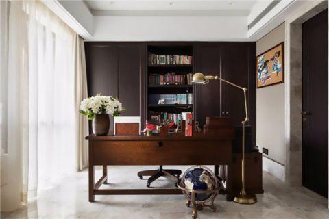 书房窗帘美式风格效果图