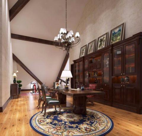 客厅橱柜美式风格装修效果图