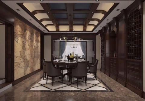 餐厅细节美式风格装饰效果图