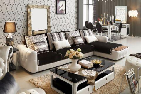 香树花城110平米现代欧式大户型客厅装修效果图