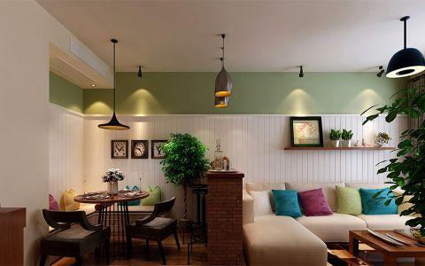 餐厅隔断美式风格装潢设计图片